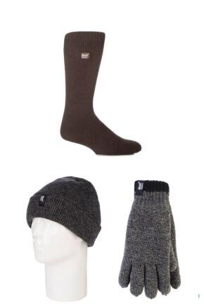 Mens SockShop Heat Holder Hat Gloves and Socks Pack