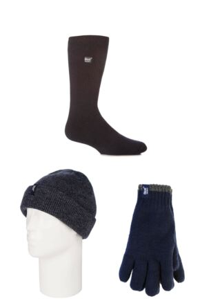 Mens SockShop Heat Holder Hat Gloves and Socks Pack