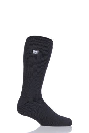 Mens 1 Pair SOCKSHOP Original Heat Holders Thermal Socks Charcoal 12-14