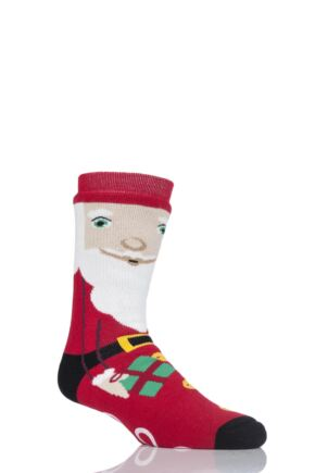 SockShop Heat Holders 1 Pair Double Layered Santa Christmas Slipper Socks