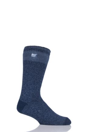 Mens 1 Pair SockShop Heat Holders Block Twist Socks
