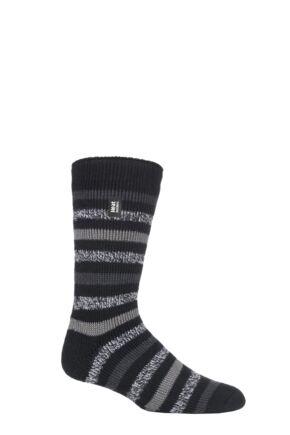 Mens 1 Pair SOCKSHOP Heat Holders 2.3 TOG Patterned and Plain Thermal Socks