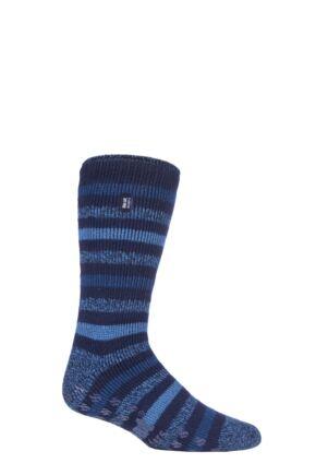 Mens 1 Pair SOCKSHOP Heat Holders 2.3 TOG Plain and Patterned Slipper Socks