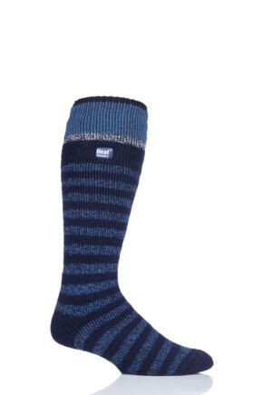 Mens 1 Pair Heat Holders 2.3 TOG Ski Socks Navy 6-11