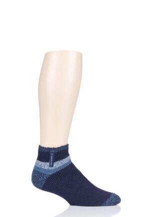 Mens 1 Pair Heat Holders Aubin Sleep Socks Navy Stripe 6-11 Mens