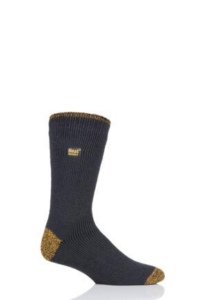 Mens 1 Pair Heat Holders Workforce Socks Charcoal 6-11 Mens
