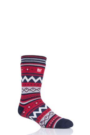 Mens 1 Pair Heat Holders Soul Warming Socks Navy 6-11 Mens