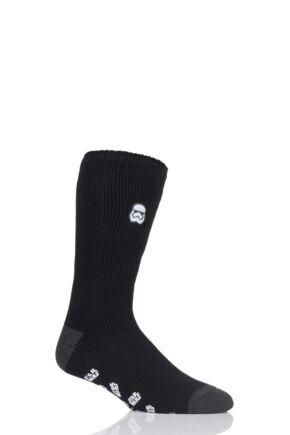 Mens 1 Pair SockShop Heat Holders Star Wars Storm Trooper Slipper Socks