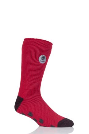 Mens 1 Pair SOCKSHOP Heat Holders Marvel's Spider-Man Slipper Socks Red 6-11 Mens