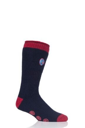 Mens 1 Pair SOCKSHOP Heat Holders Marvel's Captain America Slipper Socks