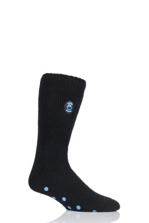 Mens 1 Pair SockShop Heat Holders Cookie Monster Slipper Socks