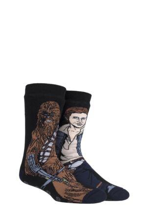 Mens 1 Pair SOCKSHOP Heat Holders Disney Star Wars 3.1 TOG Chewbacca & Hans Solo Double Layer Slipper Socks