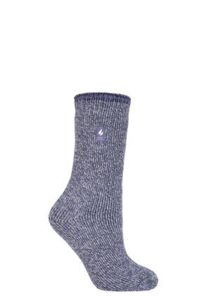 Ladies 1 Pair SOCKSHOP Heat Holders 2.9 TOG Merino Wool Socks Lilac 4-8 Ladies