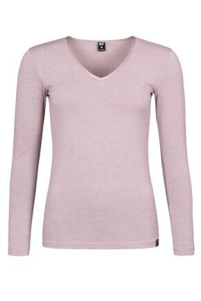 Ladies 1 Pack SOCKSHOP Heat Holders 0.44 Long Sleeve Vest