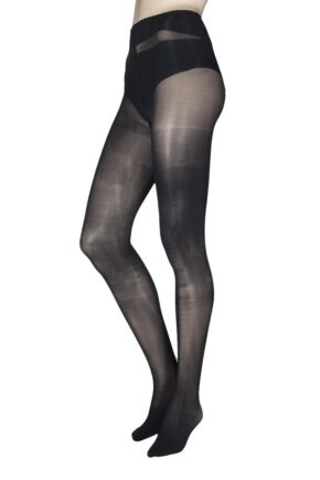 Ladies 1 Pair Charnos 40 Denier Plush Opaque Tights