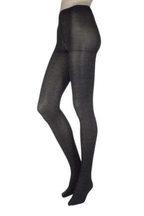 Ladies 1 Pair Charnos Tweed Opaque Tights