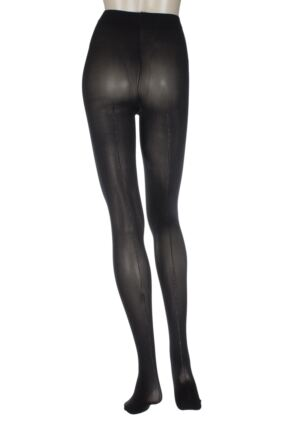 Ladies 1 Pair Charnos Lurex Backseam Sheer Tights