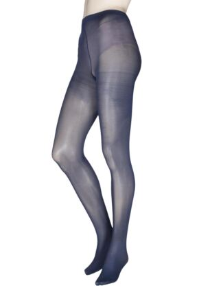 Ladies 2 Pair Charnos 40 Denier Tights With Comfort Top