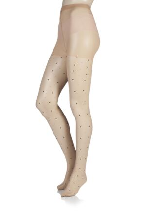 Ladies 1 Pair Charnos Fashion Multi Coloured Spot Tights