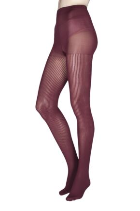 Ladies 1 Pair Charnos Fashion Ribbed Tights