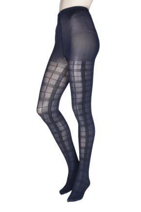 Ladies 1 Pair Charnos Fashion Tartan Tights