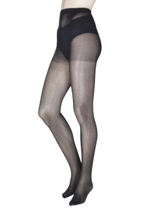 Ladies 1 Pair Charnos Fashion All Over Glitter Tights