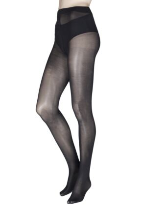 Ladies 1 Pair Charnos Fashion Glitter Backseam Sparkle Tights