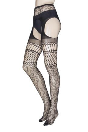 Ladies 1 Pair Trasparenze Carnation Strip Panty Tights