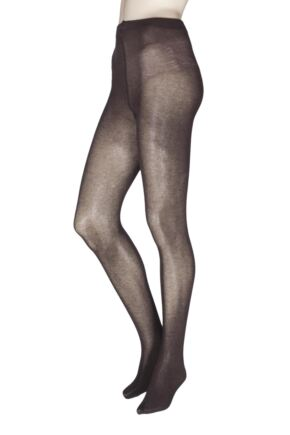 Ladies 1 Pair Charnos Cotton Modal Tight Chocolate Medium