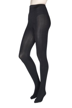 Ladies 1 Pair Charnos Plush Lined 200 Denier Tights