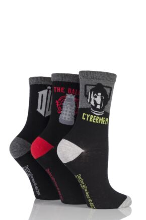 Ladies 3 Pair SockShop Doctor Who Socks