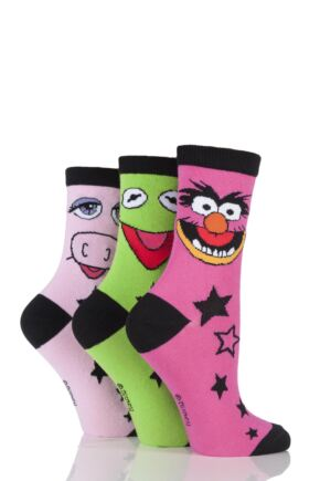 Ladies 3 Pair SockShop Muppets Socks