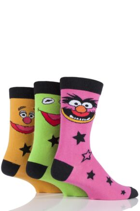 Mens 3 Pair SOCKSHOP Muppets Socks