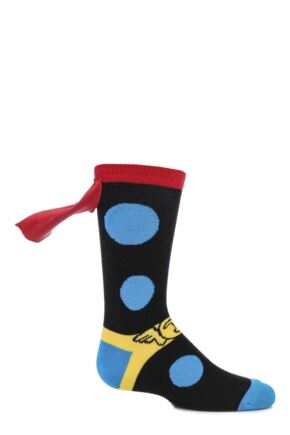 Kids 1 Pair SockShop Marvel Thor Cape Cotton Socks Multi Coloured 12.5-5