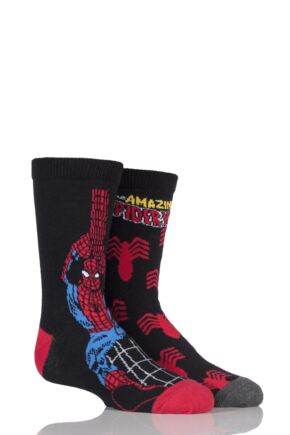 Kids 2 Pair SockShop Marvel The Amazing Spider-Man Cotton Socks Assorted 12.5-5