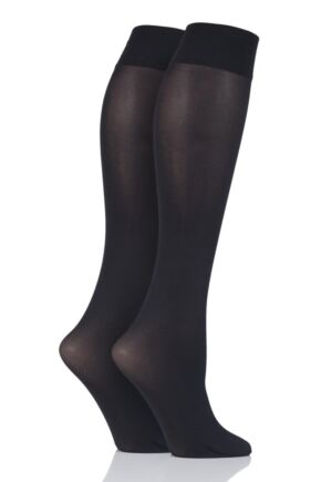 Ladies 2 Pair Charnos 40 Denier Matt Knee Highs