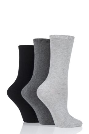 Ladies 3 Pair Charnos Comfort Top Sock