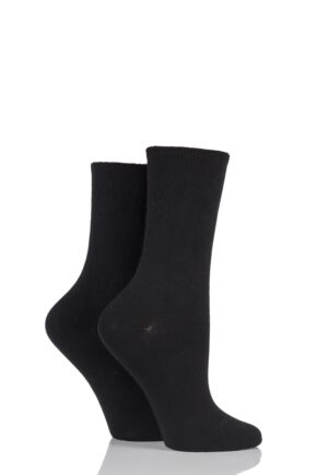 Ladies 2 Pair Charnos Comfort Top Crew Socks