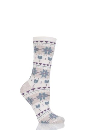 Ladies 1 Pair Charnos Fairisle Bamboo Socks