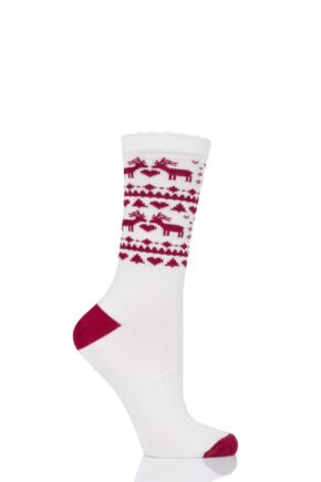 Ladies 1 Pair Charnos Bamboo Christmas Socks
