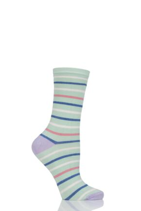 Ladies 1 Pair Charnos Stripe Bamboo Socks