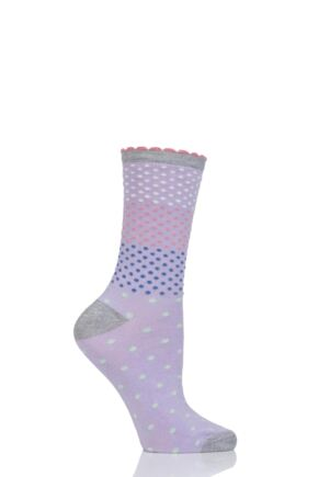 Ladies 1 Pair Charnos Staggered Spot Bamboo Socks
