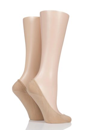 Ladies 2 Pair Charnos Ballerina Footsies with Gripper
