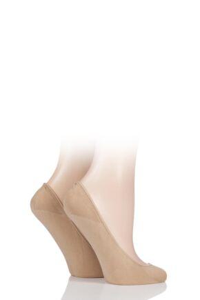 Ladies 2 Pair Charnos Ballerina Footsies with Gripper