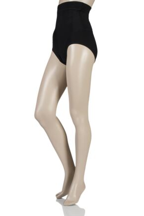 Ladies 1 Pack Charnos Shapewear Sleek Microfibre Firming High Waist Briefs