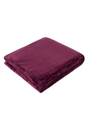 SOCKSHOP Heat Holders Snuggle Up Thermal Blanket In Claret