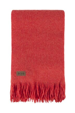 Unisex Great and British Knitwear 100% Lambswool Fringed Scarf. Made in Scotland