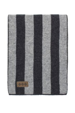Unisex Great and British Knitwear 100% Lambswool College Stripe Scarf. Made in Scotland