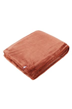 SockShop Heat Holders Snuggle Up Thermal Blanket In Copper