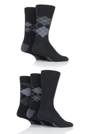 Mens 5 Pair Farah Argyle Socks